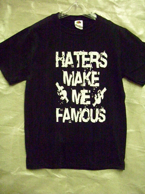 6 PCS PRINTED MEN'S TSHIRTS HATERS MAKE ME