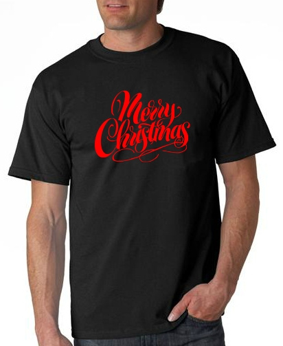 6 Tshirts MERRY CHRISTMAS design