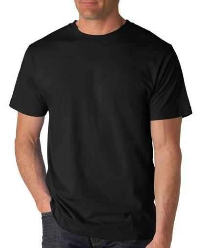 Anvil Black T-Shirts 1 Dozen