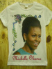 6 tshirts Michelle Obama printed with sublimation process